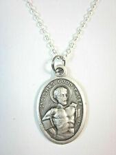 "Ladies St Dismas the Good Thief Medal Pendant Necklace 20"" Chain"