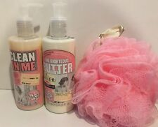 Soap & Glory The Righteous Body Butter Lotion And Shower Gel Set W/ Sponge New