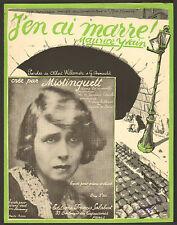 PARTITION MISTINGUETT ILLUSTRATEUR R DE VALERIO ART NOUVEAU ART DECO VERS 1920