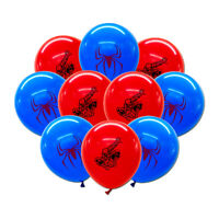 10pcs/lot for Kids Spider-Man Theme Birthday Party Balloon Set, 12 inch Latex