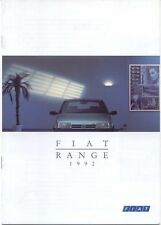 Fiat Range Panda Uno Tipo Tempra Croma Original 1992 UK Small Format Brochure