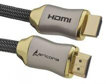 aricona HDMI Kabel Gold 2m Ethernet 3D ARC CEC FULL HD LCD LED TV Beamer Nylon