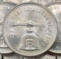 VINTAGE • 1979 Mexican Una Onza Balance Scale • 1 oz Silver • Blast White Coin!