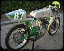 BENELLI 250 2 C 01 A4 métal signe Moto Vintage Aged