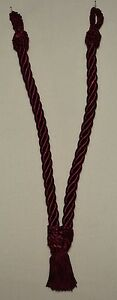 """Curtain V Tieback - 20""""spread w/ 3""""tassel - 9 Bright Colors to Choose From!!"""