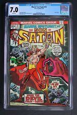 MARVEL SPOTLIGHT #13 ORIGIN 1st Color SATANA 1974 Son of Satan HULU TV CGC 7.0
