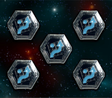Star Wars: X-Wing Miniature Games Metal Rebel Evade Tokens -- Broken Egg Games