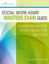 Social Work ASWB Masters Exam Prep Guide by Dawn Apgar Textbook Study Guide NEW