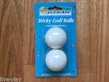 2x Tricky Magic Funny Trick Prank Party Joke Fun Gag Novelty Wobbly Golf Balls