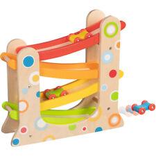 Autorennbahn mit 3 Autos, 30 x 8,5 x 28 cm, Holzspielzeug für Kinder