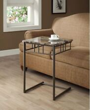 TV Tray End Table Snack Slide Under Sofa Couch Metal Furniture Living Room NEW
