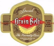 1950s MINNESOTA Minneapolis GRAIN BELT BEER 12oz 3.2% Label Tavern Trove