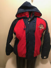Vtg Florida Panthers Starter NHL Full Zip Hooded Jacket Mens size Large 355aca20a