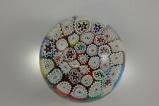 Fratelli Toso Murano Millefiori Glass Paperweight