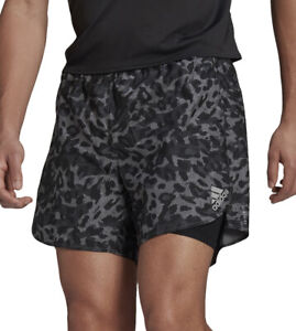 adidas Fast PrimeBlue Graphic Mens 2 In 1 Running Shorts - Grey