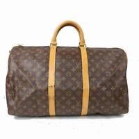 Authentic Louis Vuitton Boston Bag Keepall Bandouliere 50 M41416  1000290