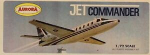 Aurora 1:72 Jet Commander CR 1968 Plastic Aircraft Model Kit #85-100U