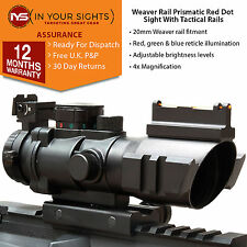 ACOG 4x32 Prismatic rifle scope /Fibre optic dot sight with illuminated recticle