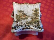 ANCIENNE  FAIENCE POLYCHROME  DATE 1883 CAISSE A OIGNONS  A  IDENTIFIER