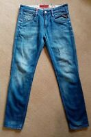 Mens Replay Anbass Jeans W30 L30 Light Blue Tapered Fit M914