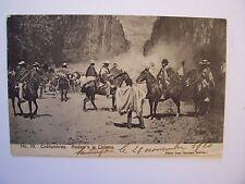 CPA - ( Amérique Sud )  -  CHILI  -  Costumbres - Rodeo à la Chilena  - 1920