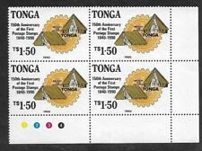 Tonga 1990 Boy Scouts Rotary International 150th Anniv Penny Black Plate Block