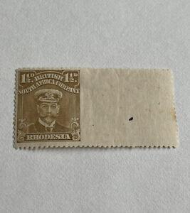 Rhodesia Admiral Marginal 1 1/2d Brown
