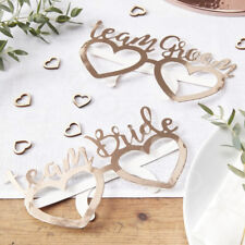 Rose Gold Foiled Team Bride Groom Fun Glasses Wedding Party Photo Booth Props x8