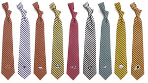 """NFL Men's Neck Tie Gingham 100% Polyester 57"""" x 3.5"""" Checkers Plaid"""