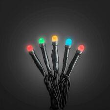 KONSTSMIDE Micro LED Lichterkette, gefrostet, 120 LEDs bunt, 30V Außentrafo