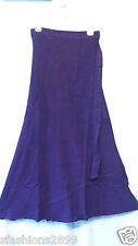 Women Clothing Long Wrap arond Skirt Beach Dress Vintage African Purple One Size