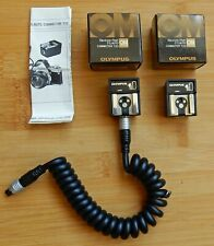 2 X OLYMPUS BOXED OM ELECTRONIC FLASH TTL AUTO CONNECTER T20 + TTL CORD