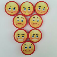 8er Set Magnete Kühlschrankmagnete Motivmagnete Büro Pinnwand  Angry Smile