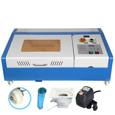 40W CO2 USB Laser Cutting Machine Engraving Engraver Wood Cutter w/ 4 Wheels