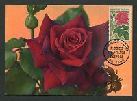 FRANCE MK 1962 FLORA ROSEN ROSE ROSES MAXIMUMKARTE CARTE MAXIMUM CARD MC d6366