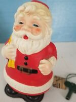VTG Wind up Walking Santa Claus Plastic Celluloid? Christmas Toy Key &Brass Bell