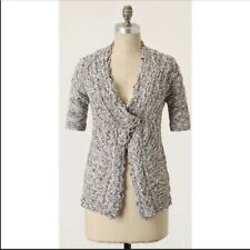 ANTHROPOLOGIE MOTH TERN TAIL MARLED CARDIGAN - M GREEN