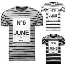 Gestreifte Kurzarm Herren-T-Shirts
