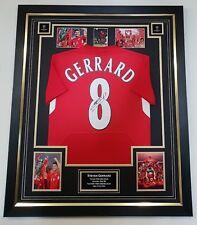 ** Rare STEVEN GERRARD of Liverpool Signed Shirt Autographed Jersey **
