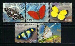 Burundi 2012 Sc#1207a-d,#1232  Butterflies  MNH Set $20.80