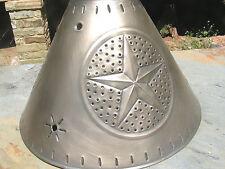Round Metal Tin Punch Western Lamp Shade Sm