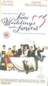 Cuatro Bodas Y Un Funeral - Hugh Grant, Andie Macdowell - Cinta VHS