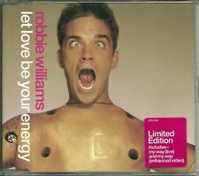 CD 2 TITRES - ROBBIE WILLIAMS : LET LOVE BE YOUR ENERGY (  EDITION LIMITEE ! )