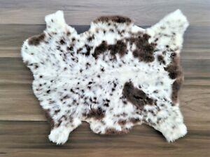 Genuine Natural Sheepskin Rug, Sheepskin Throw, Sheep Skin Rug, 26 x 34 in.