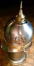 German Pickelhaube Spiked Helmet Decanter MUSIC BOX Royal Crest Made in Japan