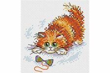 Cross Stitch Kit Adventurous ginger cat M-227