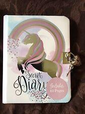 Unicorn Lockable Secret Diary A6