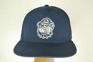 Nike True Georgetown Hoyas Baseball Hat Fitted Cap Dri Fit Blue Basketball 7