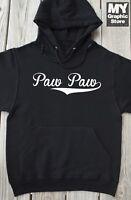 Paw Paw Hoodie Fathers Day Birthday Christmas Gift Baseball Grandpa Pops Papa