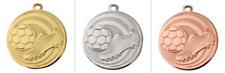 100 Fußball Medaillen TOP Design Ø 45mm mit Halsband & Beschriftung, Jugend